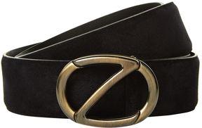 Z Zegna Logo Suede Belt