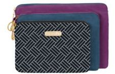 Baggallini Three-Piece Zipped Pouch