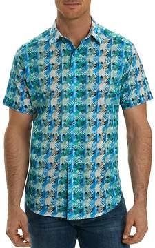 Robert Graham Ipanema Print Short Sleeve Button-Down Shirt