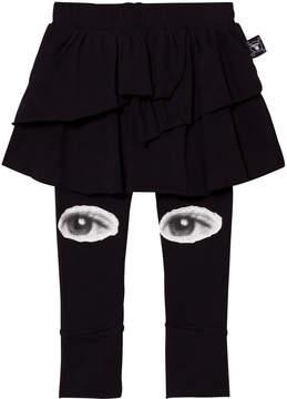 Nununu Black Eye Print Leggings Skirt