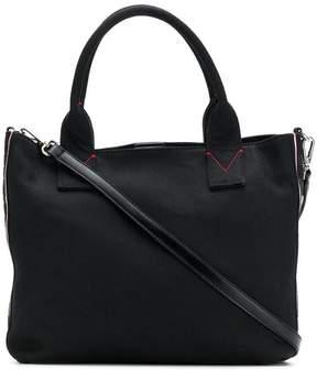 Pinko logo embroidered tote bag