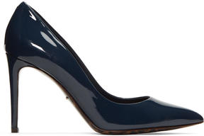 Dolce & Gabbana Navy Patent Leather Kate Heels