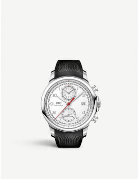 IWC IW390502 Portugieser stainless steel and rubber watch