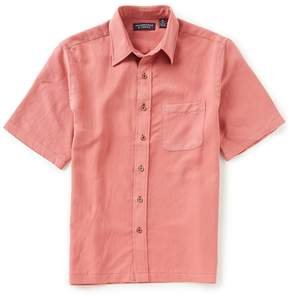 Roundtree & Yorke Big & Tall Short-Sleeve Solid Sportshirt