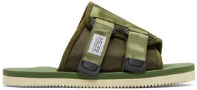 Suicoke Green Kaw-Cab Sandals