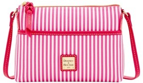 Dooney & Bourke DB Stripe Ginger Crossbody Shoulder Bag - FUCHSIA - STYLE
