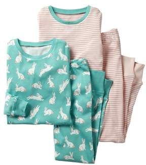 Boden Mini Two-Pack Fitted Two-Piece Pajamas