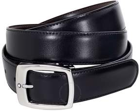Montblanc Contemporary Black Leather Belt