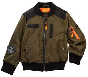 Urban Republic Poly Twill Bomber with Aviator (Toddler & Little Boys)