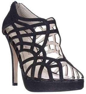 Caparros Merengue Strappy Platform Dress Sandals, Black Glimmer.