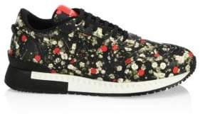 Givenchy Floral-Print Leather Sneakers