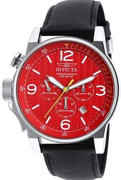 Invicta Watches Mens I-Force Chronograph Leather Band Watch