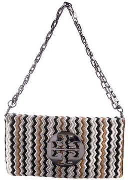 Tory Burch Metallic Embroidered Crossbody Bag
