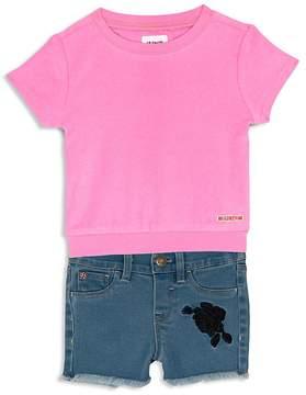 Hudson Girls' Terry Tee & Denim Shorts Set - Baby