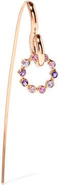 Charlotte Chesnais Swing 18-karat Rose Gold, Sapphire And Amethyst Earring
