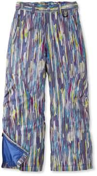 L.L. Bean L.L.Bean Girls' Glacier Summit Waterproof Pants, Print