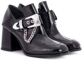 McQ Leah patent leather ankle boots