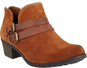 Earth Origins Suede Ankle Boots w/ Buckle Details - Destiny