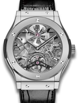 Hublot Ultra-Thin Skeleton Tourbillon Dial Skeleton Automatic Men's Luxury Watch