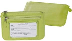 Royce Leather Women's Zippered Slim City Wallet in Genuine Leather