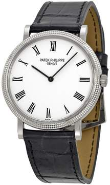 Patek Philippe Calatrava White Dial 18k White Gold Men's Watch 5120G