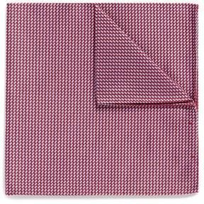 Armani Collezioni Zigzag stripe jacquard silk pocket square
