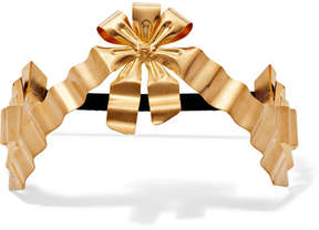 Gucci Gold-plated And Faux Pearl Headband - Brass