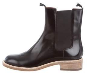 Celine Patent Leather Chelsea Ankle Boots w/ Tags