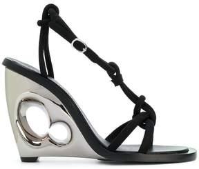 Alexander McQueen sculpted wedge sandal
