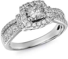 Bloomingdale's Diamond Square Halo Ring in 14K White Gold, 1.0 ct. t.w - 100% Exclusive