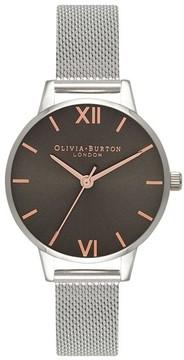 Olivia Burton Women's Round Mesh Strap Watch, 30Mm