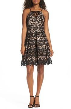 Adelyn Rae Women's Krista Lace Fit & Flare Dress