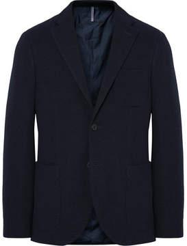 Incotex Midnight-Blue Slim-Fit Wool-Terry Blazer