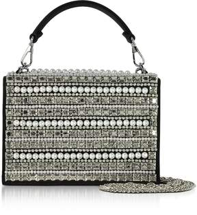 Rodo Embellished Satin Silk Celebration Bag w/Top Handle