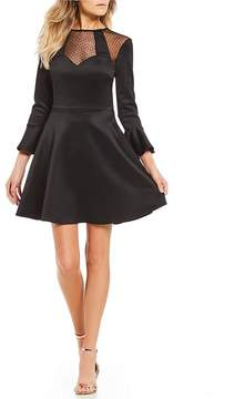B. Darlin Illusion Yoke Fit-And-Flare Dress