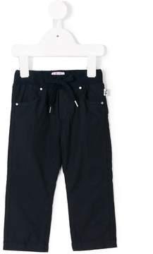 Il Gufo drawstring straight leg trousers