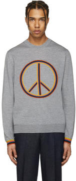Paul Smith Grey Peace Sign Pullover