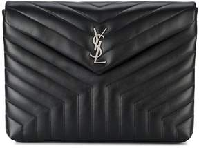 Saint Laurent Lou Lou Document Clutch Bag - BLACK - STYLE