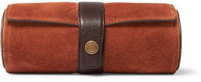 Brunello Cucinelli Leather-Trimmed Suede Watch Roll