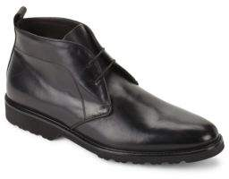 Bruno Magli Wender Leather Lace-Up Chukka Boots
