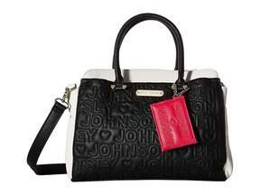 Betsey Johnson Triple Entry Satchel Satchel Handbags