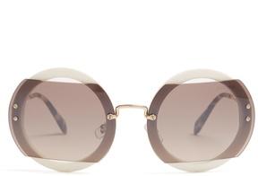 Miu Miu Round-frame metal sunglasses