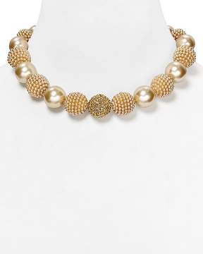 Carolee Faux-Pearl Mix Bauble Necklace, 17