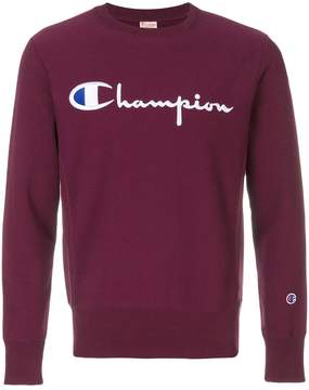 Champion logo embroidered sweatshirt