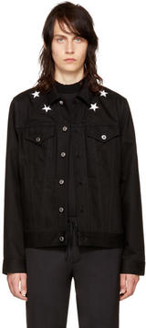 Givenchy Black Denim Stars Jacket