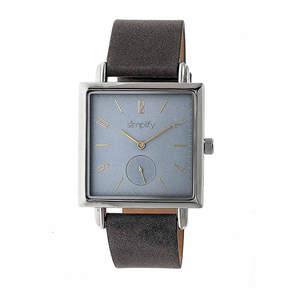 Simplify Blue Dial Mens Gray Strap Watch-Sim5006