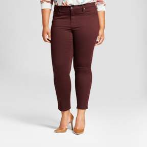 Ava & Viv Women's Plus Size Skinny Jean Berry