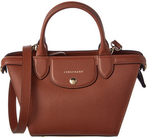 Longchamp Le Pliage Heritage Small Leather Top Handle - BROWN - STYLE