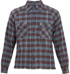 Missoni Point-collar checked cashmere cardigan