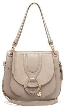 See by Chloe Hana Suede And Leather Satchel Cross Body Bag - Womens - Grey